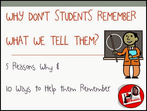 Top 10 Blog Posts from Raki's Rad Resources of 2014 - Why Don't Students Remember What We Tell Them