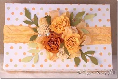 orange roses gift box