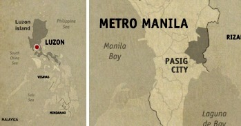 Pasig Location Map