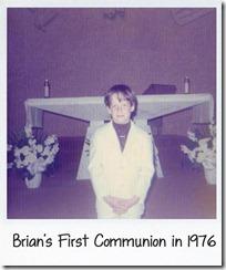 Bri communion first