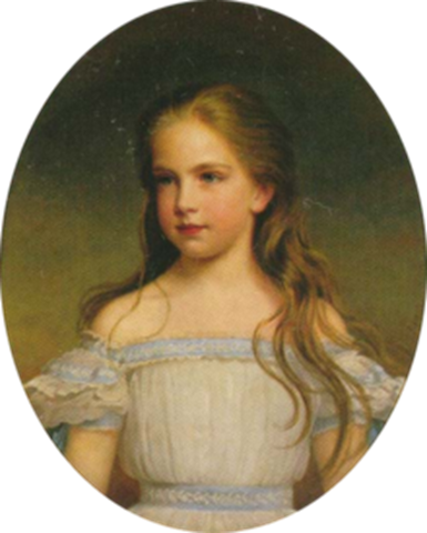 Gisela de Austria en la infanci