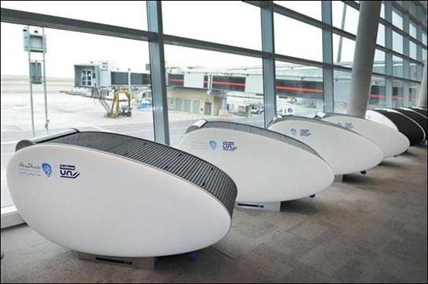 كبسولة النوم في مطار ابوظبي