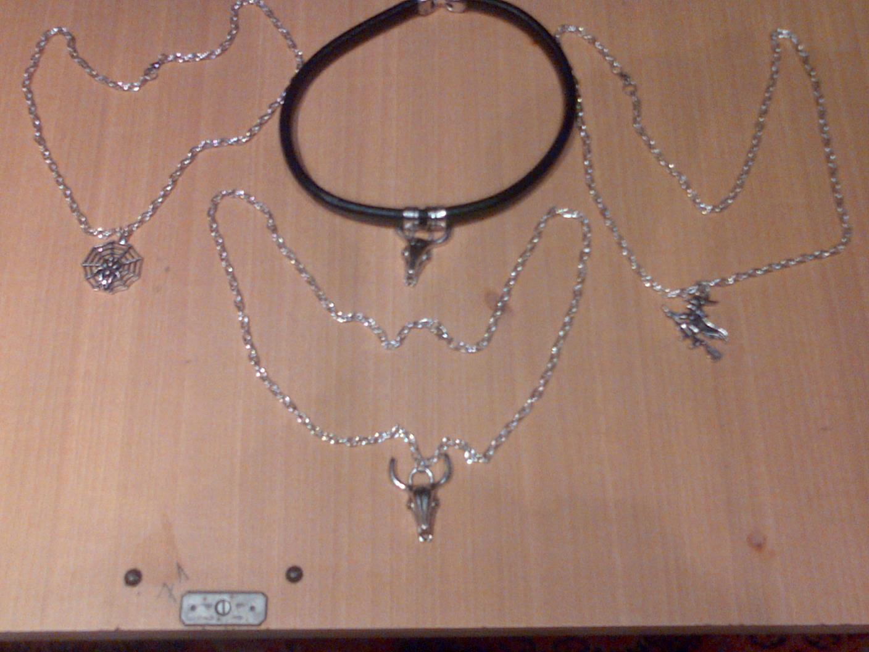 Pulseras de cuero y metal satanicas7358 collares de cuero y metal satanicas - Collares de cuero ...
