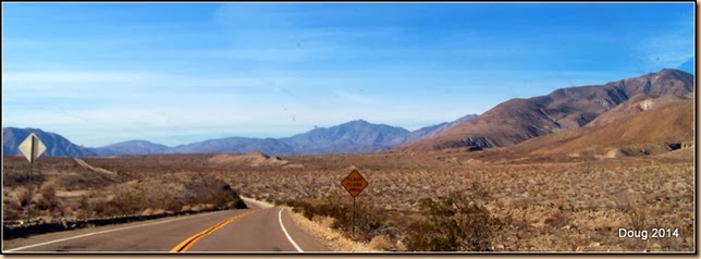 Going down to desert floor in Anza-Borrego S.P.