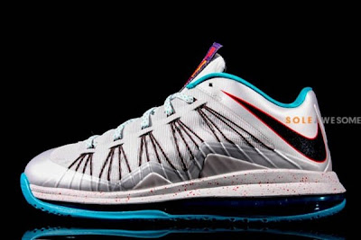 nike lebron 10 low gr silver teal 1 04 New Nike Air Max LeBron X Low Silver & Teal (579765 002)