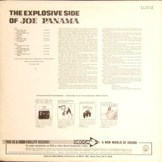 JOE PANAMA  the explosive side  T