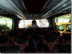 the holiday bus interior