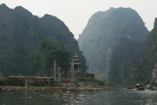 The views were astounding, we passed a set of pagodas and burial grounds on first exit of Van Lam village.