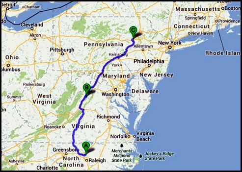 0 - Travel to Moyers Grove CG, Wapwallopen, PA  250 miles
