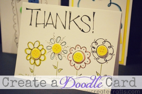 Custom Doodle Card Video Tutorial U-createcraft.com