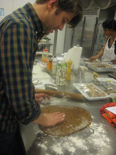 Khalil Hymore making his family's super-secret gingerbread recipe.