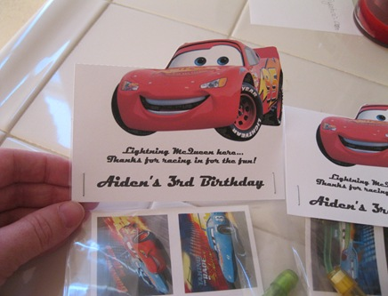 Cars Themed Goodie Bags