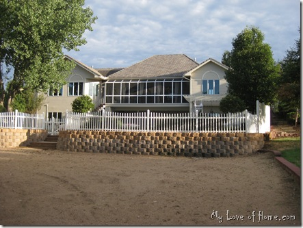 beach, fence, screened porch, back yard,
