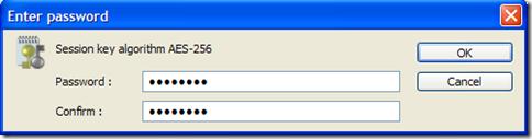 BCTextEncoder impostare password per la decriptazione del testo