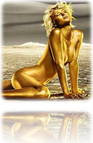 Paris Hilton - Gold Body Paint-2