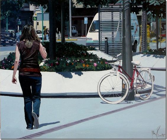 Flores y bicicleta