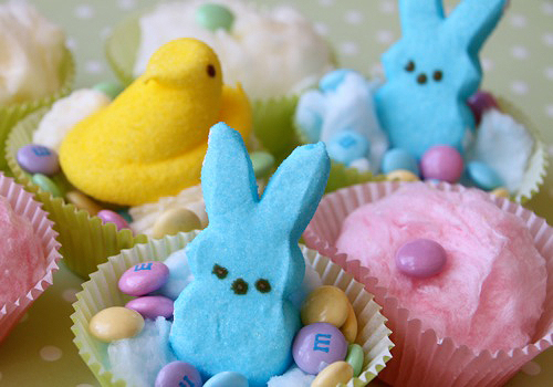 The chicks and bunnies are the perfect topping for any Easter baked good.
