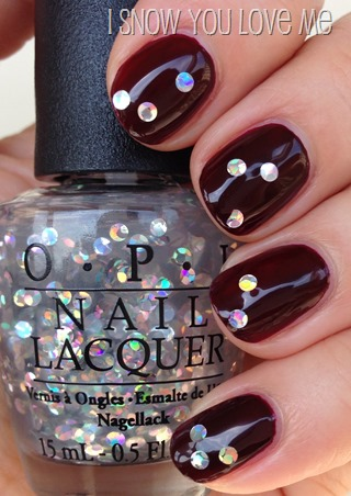 OPI I Snow You Love Me (over Vision of Love)