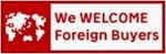 We WELCOME Foreign Buyers Logo
