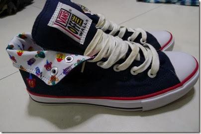Vans X Rollicking Classic Skool Hi in navy blue