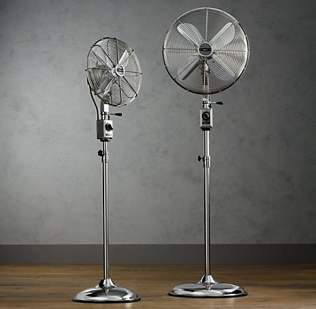 I personally love adjustable fans. They let you direct the breeze exactly where you want it.  