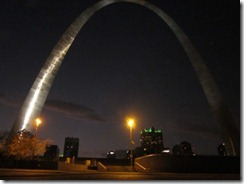 arch at night from miss river