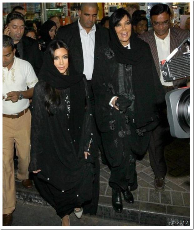 Kim Kardishan Wearing Abaya In Dubai6