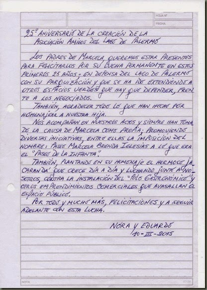 carta de Nora y Eduardo
