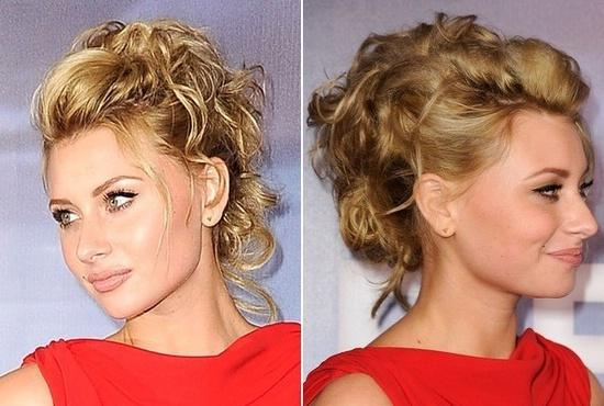 High hairstyle from romantic curls by Alyson Michalka
