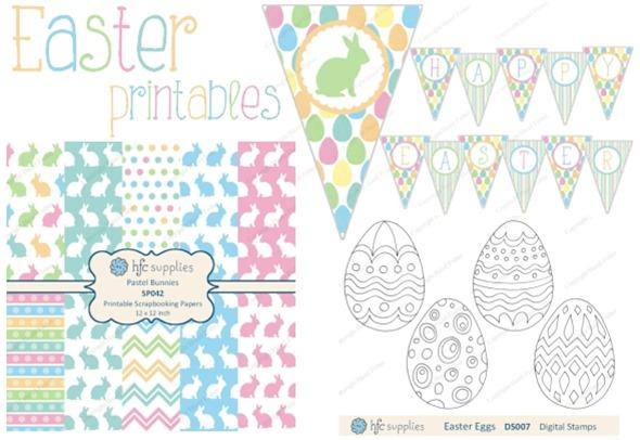 April 3 march review Easter printables hfcSupplies pastel bunnies hazelfishercreations