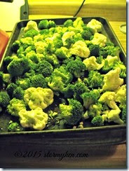 broccoli and cauliflower on pan