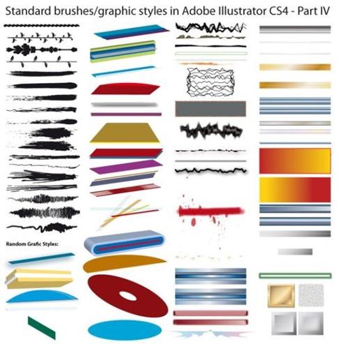 Colección de pinceles estándar