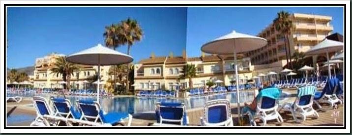 Hôtel Camino Real, piscine, bungalow et l'un des bâtiments à étages