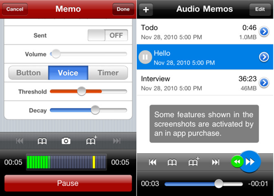 Audio Memos The Voice Recorder1