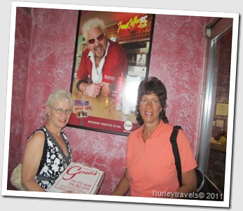 Nancy and Suzanne at Geraci's