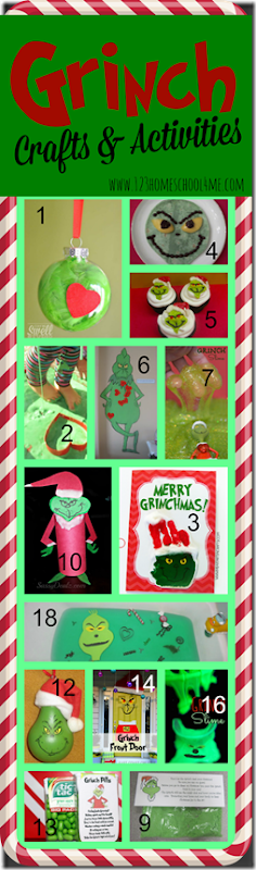 Grinch Crafts for Kids - easy, diy Christmas crafts for kids with tons of Tons of super cute ideas for Toddlers, Preschool, Kindergarten, and elementary age kids! Lots of cute homemade Christmas ornaments for kids too!