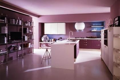 Cat Rumah Minimalis Warna Ungu