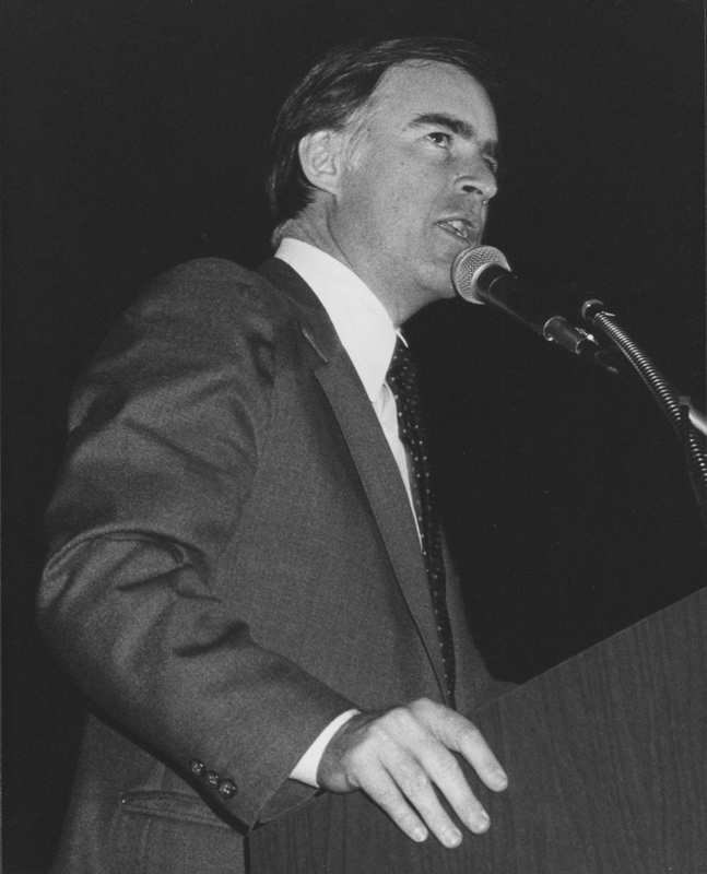 California Governor Jerry Brown at the MECLA (Municipal Elections Committee of Los Angeles) Banquet. April 23, 1982.