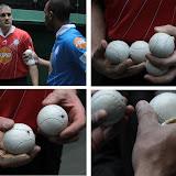Des pelotes dont le poids se situe aux alentours de 95 grammes