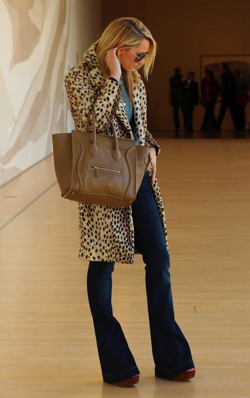 Flare Jeans via La Dolce Vita #leopard #celine