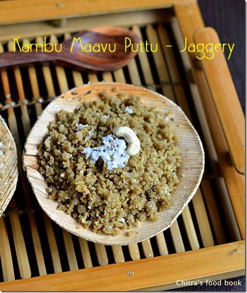 Kambu maavu puttu recipe