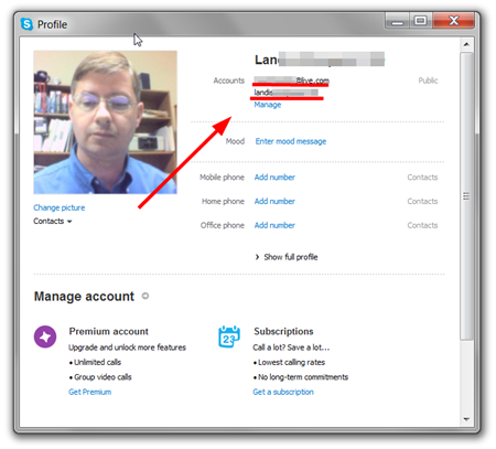 skype how to change profile picture