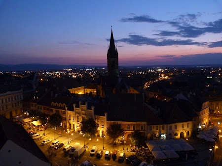 Things to see in Sibiu:city by night