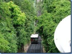 8817 Lookout Mountain, Tennessee - Incline Railway - at the top - car coming up