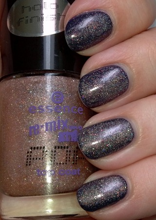 Essence Just Can't Get Enough over OPI Roadhouse Blues 1