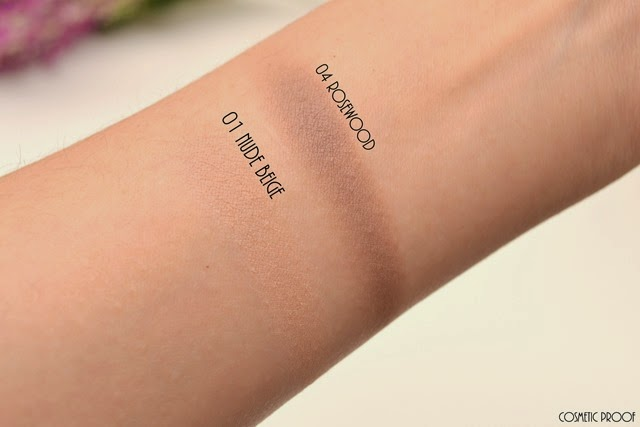 Clarins Ombre Matte Cream to Powder Eyeshadows 04 Rosewood Nude Beige Review Swatches (4)
