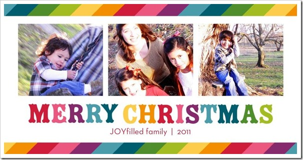 Rainbow Merry Christmas FRONT