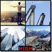 HIGH- 4 Pics 1 Word Answers 3 Letters