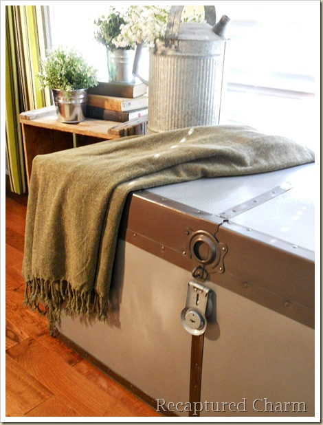 Metal Trunk Makeover 092a