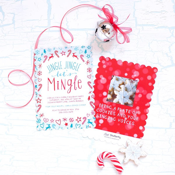 Shutterfly Holiday Collection Party Invitations